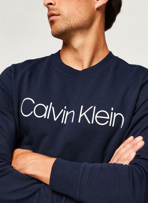 Kleding Calvin Klein Cotton Logo Sweatshirt Blauw voorkant