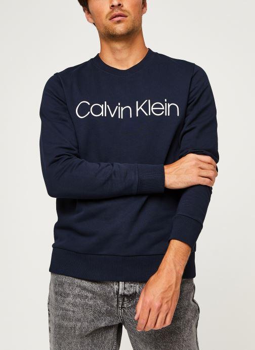 Kleding Calvin Klein Cotton Logo Sweatshirt Blauw detail