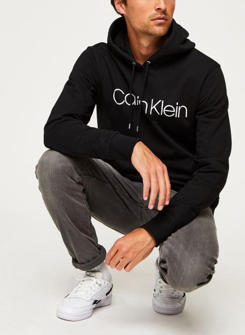 Kleding Calvin Klein Cotton Logo Hoodie Zwart onder