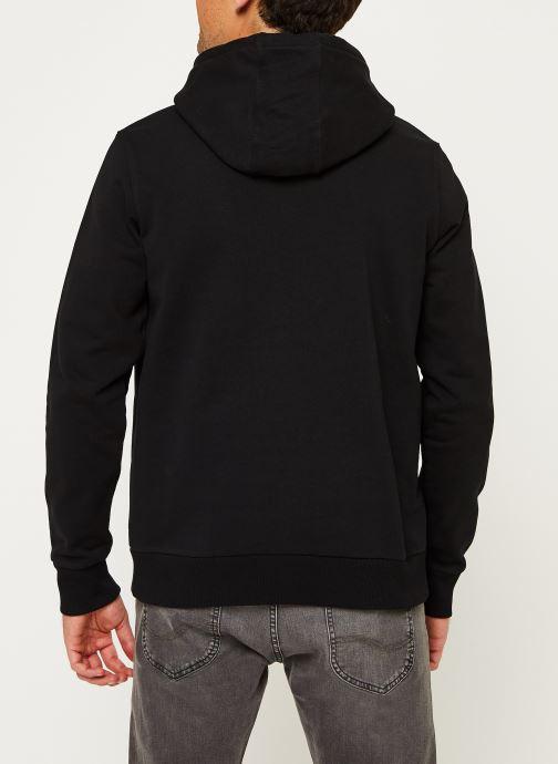 Kleding Calvin Klein Cotton Logo Hoodie Zwart model