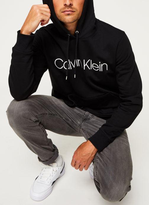 Kleding Calvin Klein Cotton Logo Hoodie Zwart detail