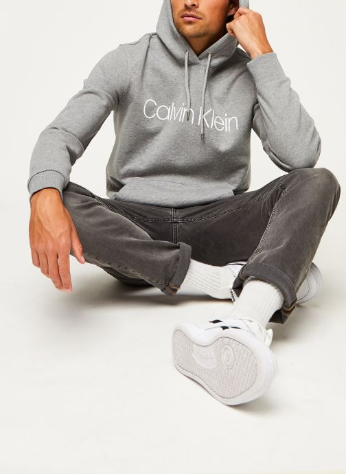 Kleding Calvin Klein Cotton Logo Hoodie Grijs onder