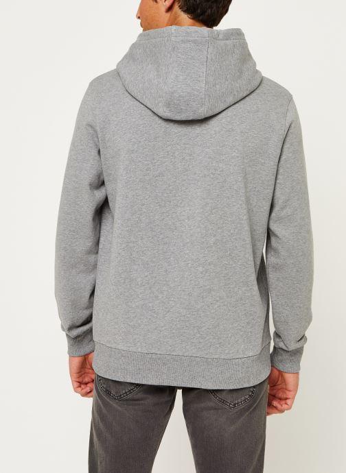 Kleding Calvin Klein Cotton Logo Hoodie Grijs model