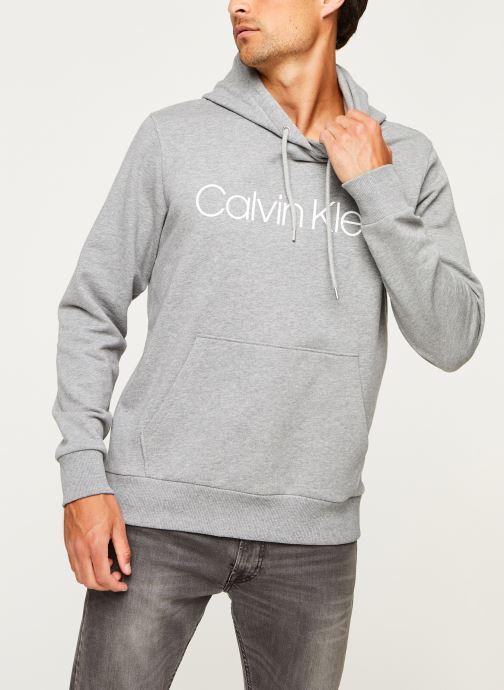 Kleding Calvin Klein Cotton Logo Hoodie Grijs rechts
