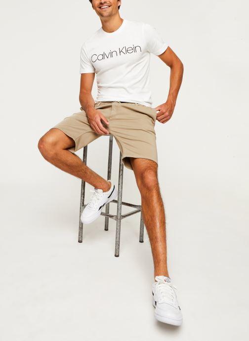 Kleding Calvin Klein Cotton Chest Logo T-Shirt Zwart onder