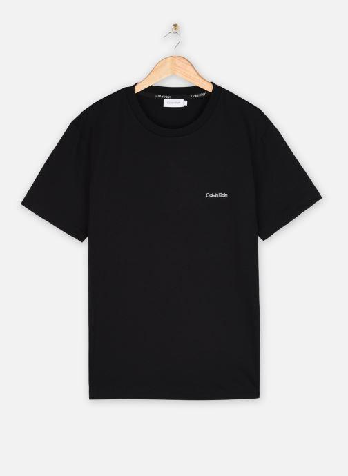 Kleding Calvin Klein Cotton Chest Logo T-Shirt Zwart detail