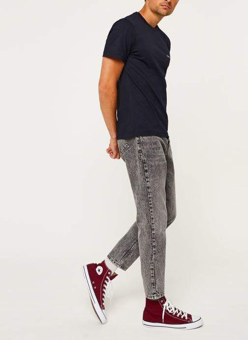 Kleding Calvin Klein Cotton Chest Logo T-Shirt Blauw onder
