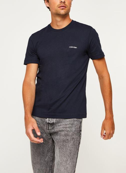 Kleding Calvin Klein Cotton Chest Logo T-Shirt Blauw detail