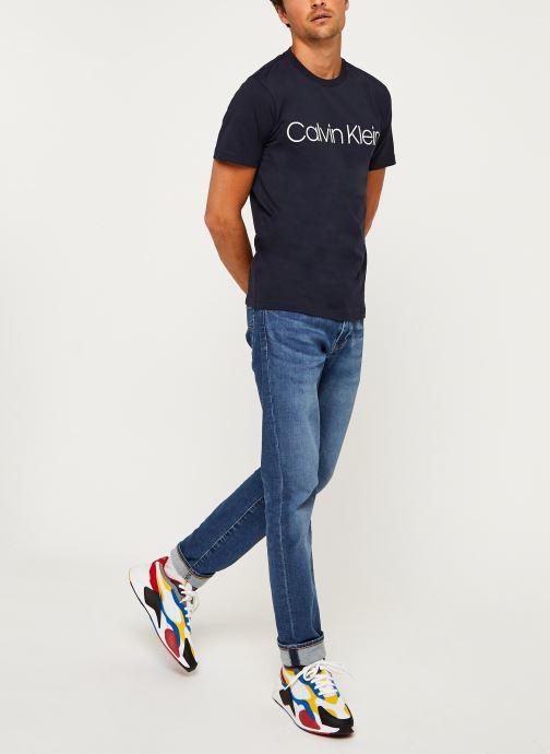 Kleding Calvin Klein Cotton Front Logo T-Shirt Blauw onder