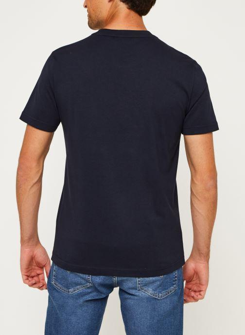 Kleding Calvin Klein Cotton Front Logo T-Shirt Blauw model