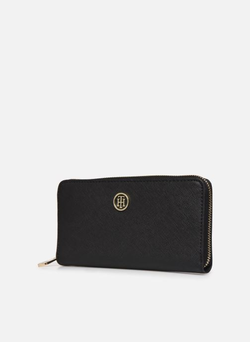 Marroquinería pequeña Tommy Hilfiger HONEY LARGE ZA WALLET Negro vista del modelo