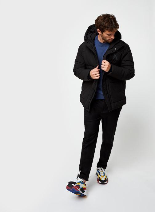 Vêtements Calvin Klein Logo Embroidery Sweatshirt Bleu vue bas / vue portée sac