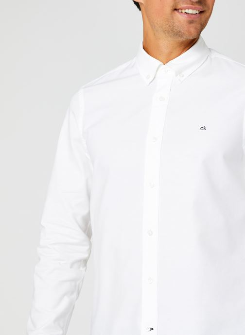 Kleding Calvin Klein Slim Fit Stretch Oxford Shirt Wit voorkant