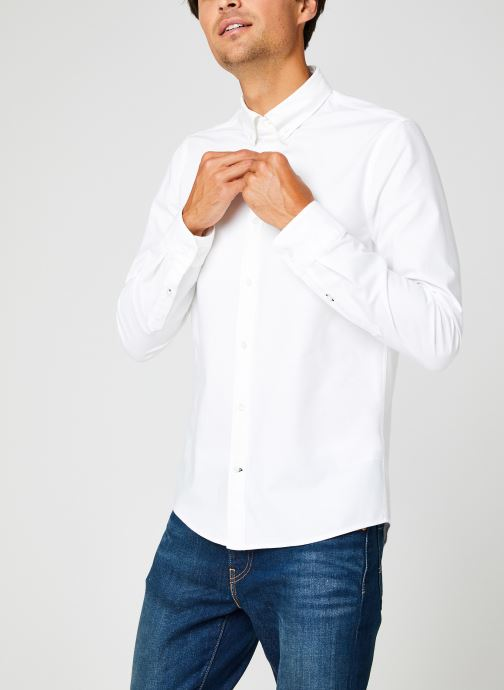 Kleding Calvin Klein Slim Fit Stretch Oxford Shirt Wit rechts