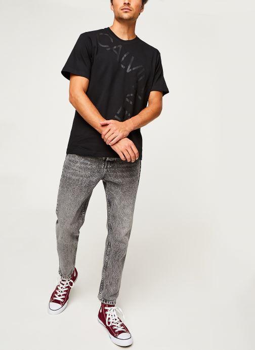 Kleding Calvin Klein Bold Logo Relax T-Shirt Zwart onder