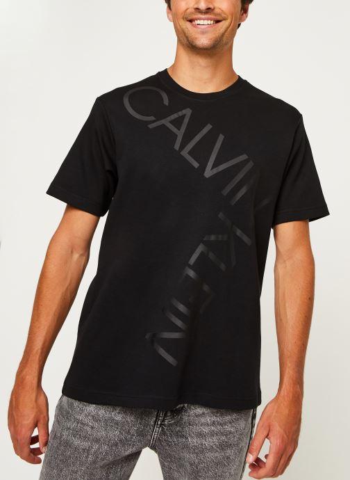 Kleding Calvin Klein Bold Logo Relax T-Shirt Zwart rechts