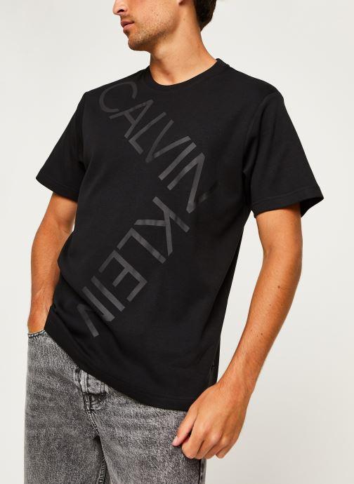 Kleding Calvin Klein Bold Logo Relax T-Shirt Zwart detail