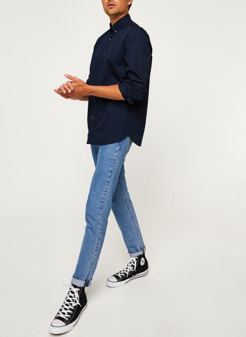 Kleding Calvin Klein Button Down Liquid Touch Shirt Blauw onder