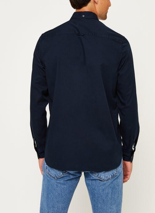 Kleding Calvin Klein Button Down Liquid Touch Shirt Blauw model