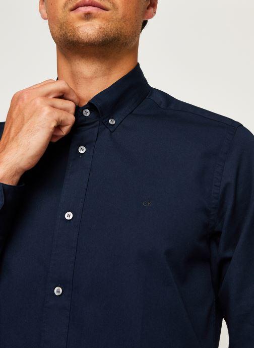 Kleding Calvin Klein Button Down Liquid Touch Shirt Blauw voorkant