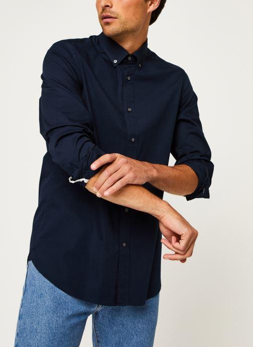 Kleding Calvin Klein Button Down Liquid Touch Shirt Blauw detail