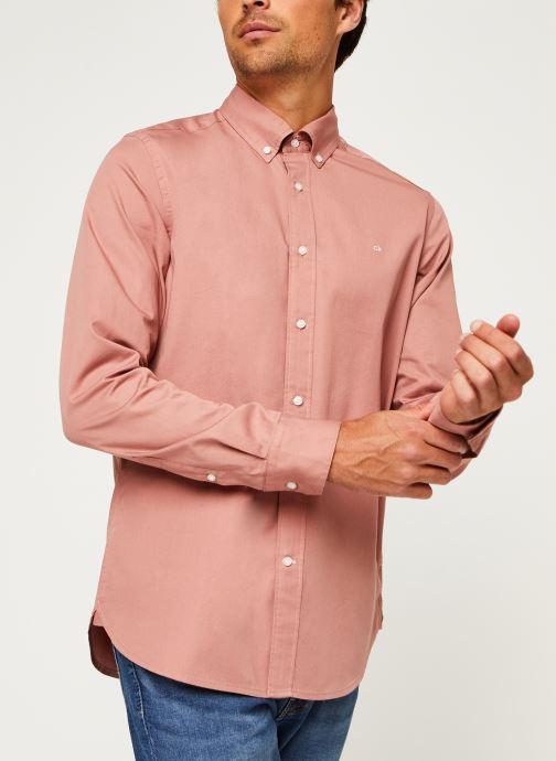 Kleding Calvin Klein Button Down Liquid Touch Shirt Roze rechts