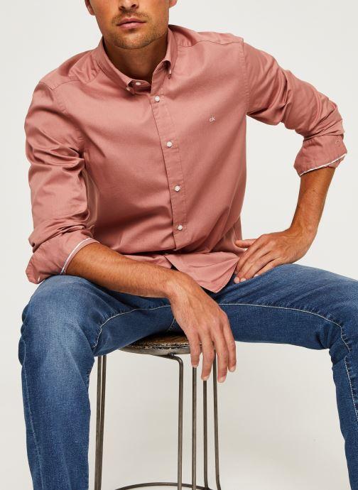 Kleding Calvin Klein Button Down Liquid Touch Shirt Roze detail