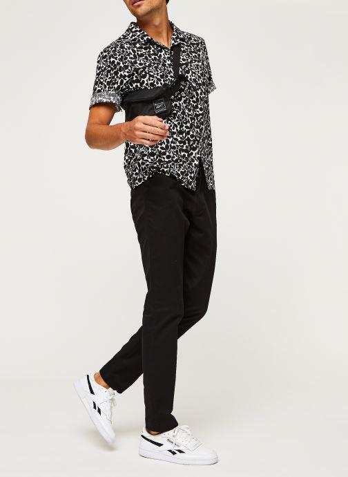 Kleding Calvin Klein Cuban Collar Flower Shirt Zwart onder
