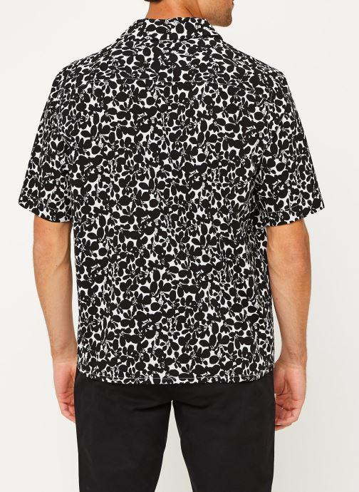 Kleding Calvin Klein Cuban Collar Flower Shirt Zwart model