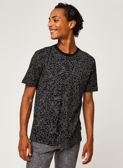 Kleding Calvin Klein Allover Print Camo Lines T-Shirt Zwart rechts