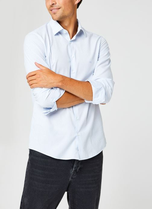 Chemise - Washed Stripe Slim Shirt