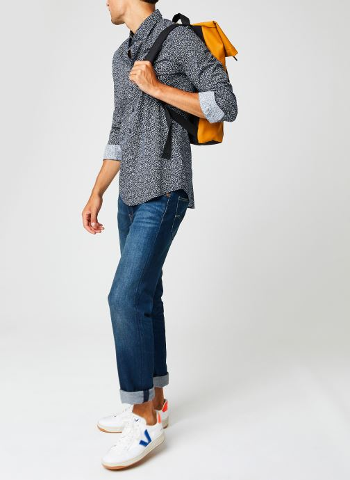 Vêtements Calvin Klein Washed Printed Slim Shirt Bleu vue bas / vue portée sac