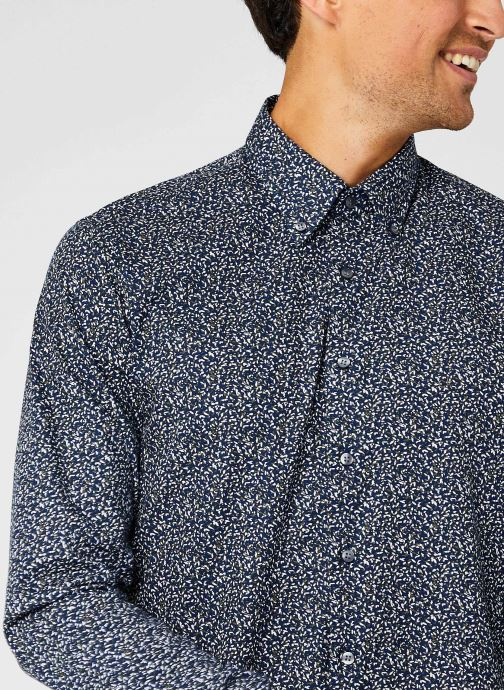 Vêtements Calvin Klein Washed Printed Slim Shirt Bleu vue face