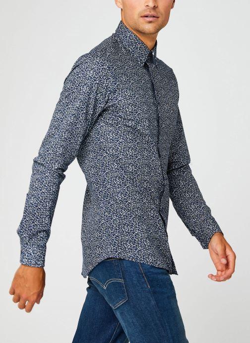 Vêtements Calvin Klein Washed Printed Slim Shirt Bleu vue droite