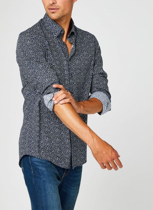 Vêtements Calvin Klein Washed Printed Slim Shirt Bleu vue détail/paire