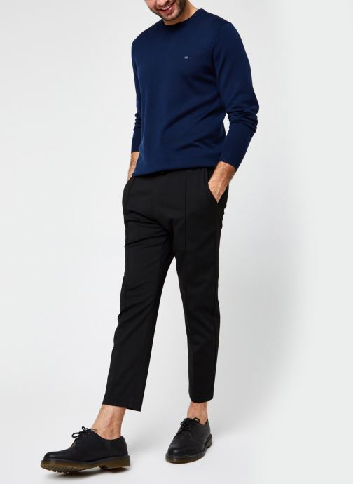 Vêtements Calvin Klein Superior Wool Crew Neck Sweater Bleu vue bas / vue portée sac
