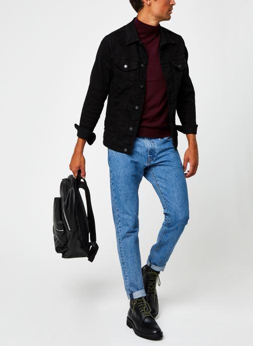 Kleding Calvin Klein Superior Wool Mock Pullover Bordeaux onder