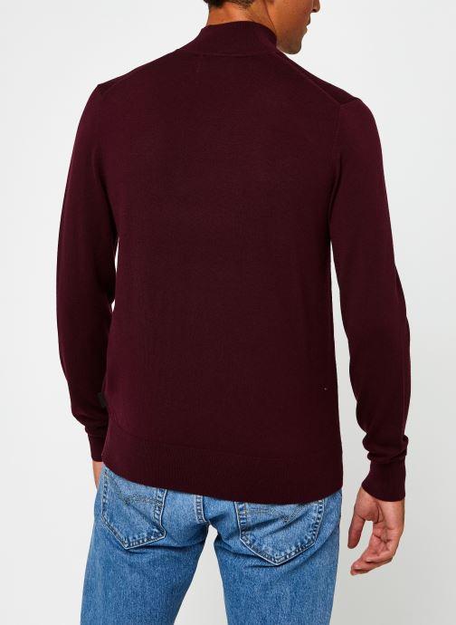 Kleding Calvin Klein Superior Wool Mock Pullover Bordeaux model