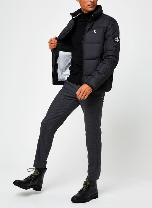 Vêtements Calvin Klein Superior Wool Turtle Nk Sweater Noir vue bas / vue portée sac