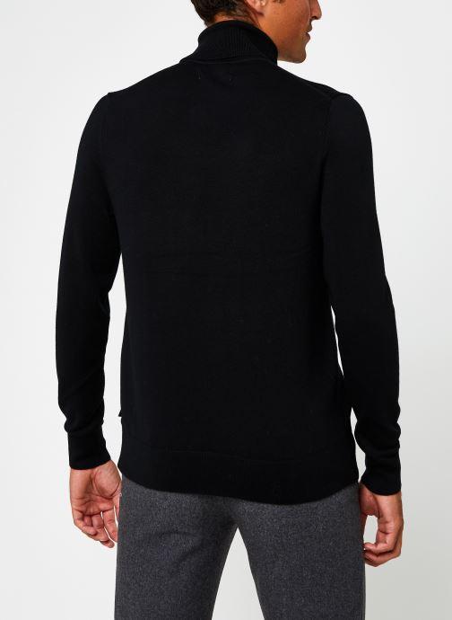 Vêtements Calvin Klein Superior Wool Turtle Nk Sweater Noir vue portées chaussures