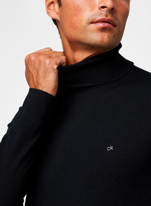 Vêtements Calvin Klein Superior Wool Turtle Nk Sweater Noir vue face