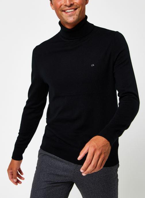 Vêtements Calvin Klein Superior Wool Turtle Nk Sweater Noir vue détail/paire