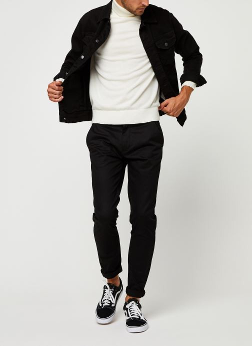 Vêtements Calvin Klein Superior Wool Turtle Nk Sweater Blanc vue bas / vue portée sac