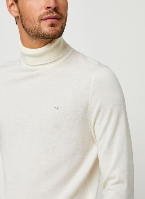 Vêtements Calvin Klein Superior Wool Turtle Nk Sweater Blanc vue face