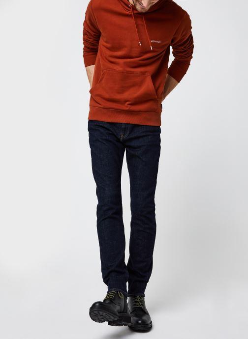 Vêtements Calvin Klein Logo Embroidery Hoodie Orange vue bas / vue portée sac