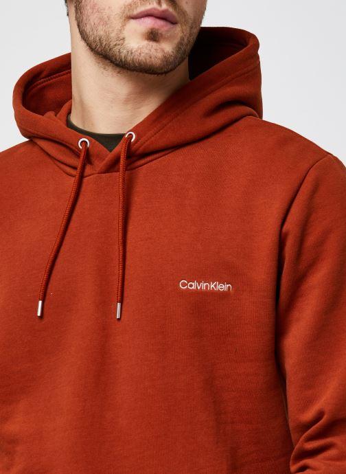 Vêtements Calvin Klein Logo Embroidery Hoodie Orange vue face