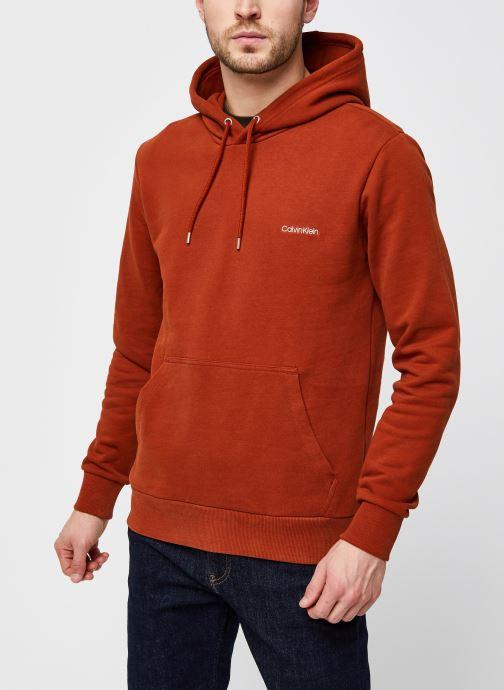 Vêtements Calvin Klein Logo Embroidery Hoodie Orange vue droite