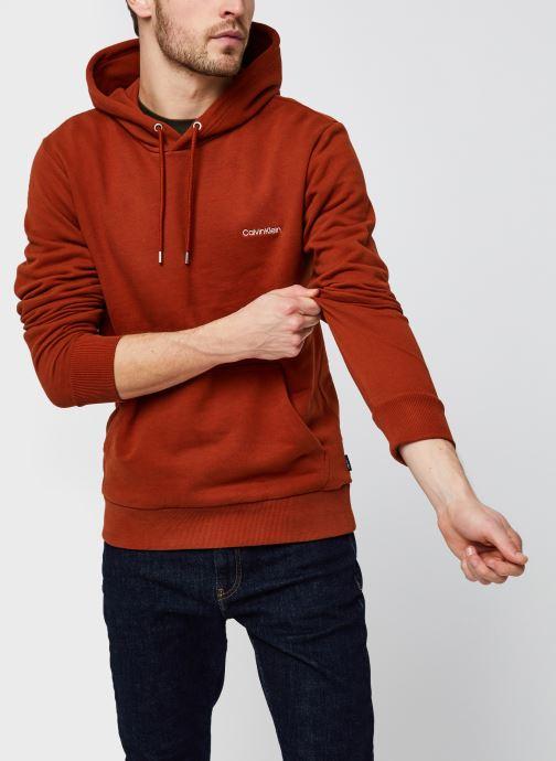 Vêtements Calvin Klein Logo Embroidery Hoodie Orange vue détail/paire