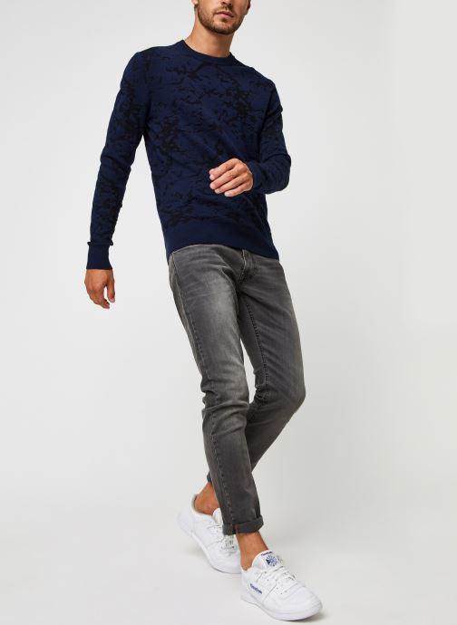 Kleding Calvin Klein Cotton Blend Abstract Sweater Blauw onder