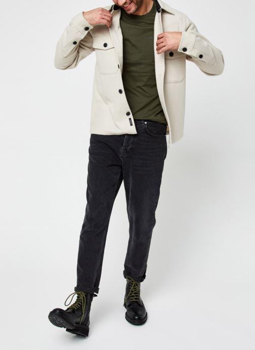 Vêtements Calvin Klein Wool Shirt Jacket Beige vue bas / vue portée sac